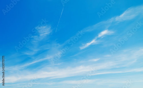 blue and white sky with clouds Canvas Print