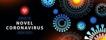 Coronavirus Outbreak Background In Modern Flat Line Art Style. Minimal Design. Coronavirus 2019-nCoV. Pandemic Medical Health Risk, Immunology, Virology, Epidemiology Concept