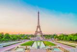 Fototapeta Fototapety z wieżą Eiffla - eiffel tour and from Trocadero, Paris