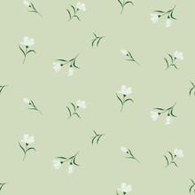 Seamless Floral Pattern. Backg...