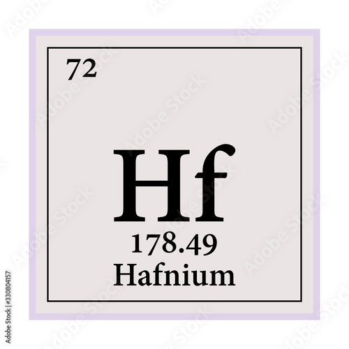 Valokuva Hafnium Periodic Table of the Elements Vector illustration eps 10