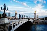 Fototapeta Fototapety Paryż - Bridge of Alexandre III, Paris, France