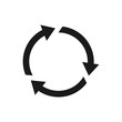 refresh vector icon, circle icon, reload icon in trendy flat style