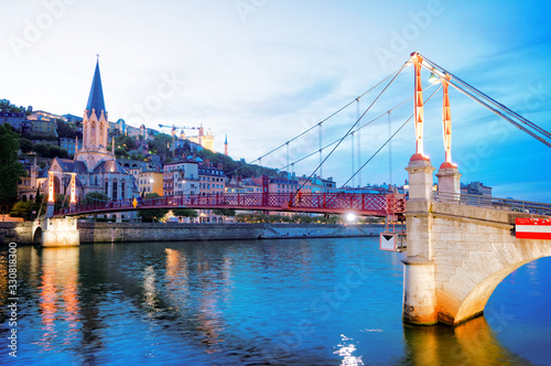 Lyon, France in a beautiful summer day Canvas Print