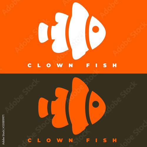 Obraz na płótnie logo animal template simple and clean