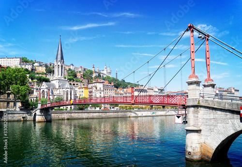 Lyon, France in a beautiful summer day Wallpaper Mural