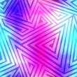 canvas print picture - spectrum labyrinth seamless pattern