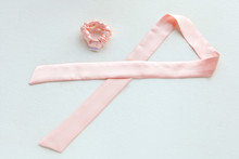 Pink Silk Scrunchy Isolated On...