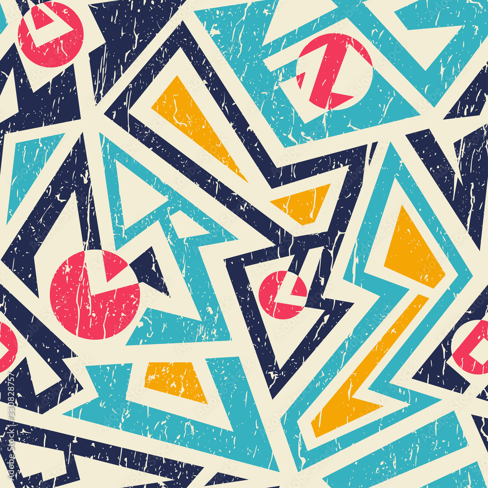 Fototapeta Grunge tribal seamless pattern