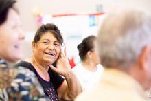 Smiling Hispanic Woman In A Se...