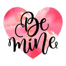 Be Mine Hand Lettering, Black ...