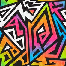 Bright Graffiti Geometric Seam...