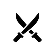 Icon Of Two Crossed Swords. Ve...