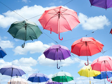 Multicolor Parasol Umbrella Fl...