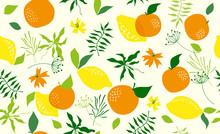 Seamless Pattern With Orange. ...