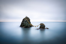 Meoto Iwa Rocks Near Ise, Mie Prefecture, Japan