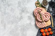 Traditional Raw Spiral Pork Sa...