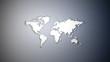 White Worldmap on White Blue Gradient