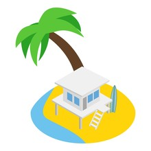 South Beach Icon. Isometric Il...