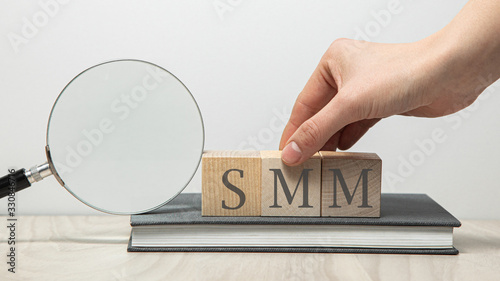 SMM abbreviation on wooden cubes Wallpaper Mural