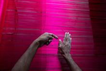 Handloom Weaver Weaves Banaras...