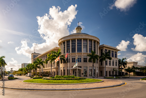Canvas Print Doral City Hall Miami FL USA
