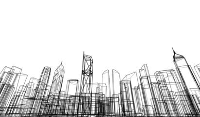 Concept city architecture vector illustration