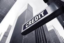 Office Building With A Credit ...