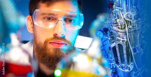 Bioreactor in microbiology Fototapet