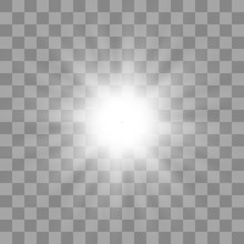 White Glowing Light Burst Expl...