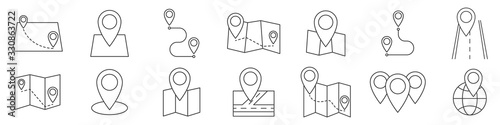 Map icon. Location icon. GPS. Vector illustration.