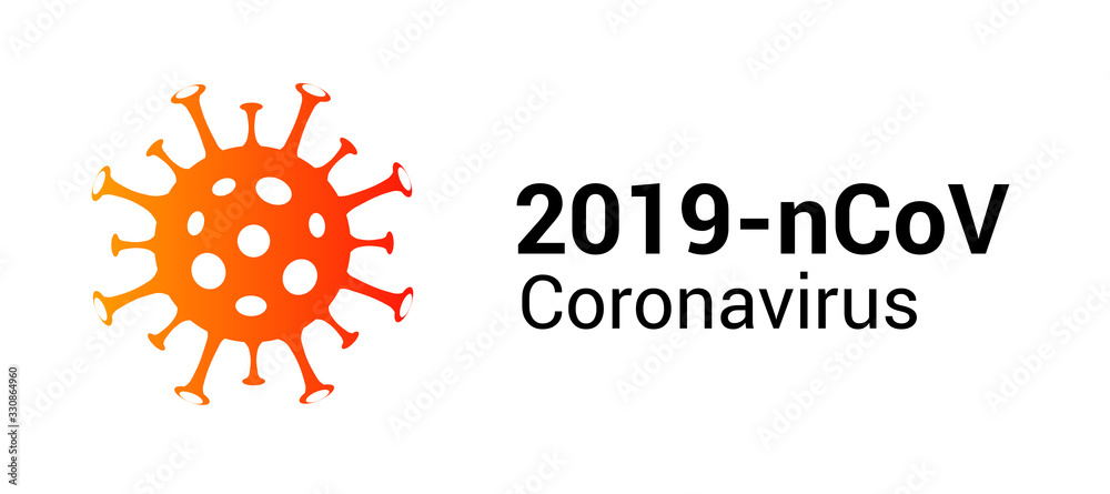 Fototapeta Coronavirus covid 19 vector icon. Pandemic corona virus illustration sign