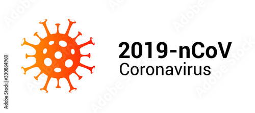 Obraz Coronavirus covid 19 vector icon. Pandemic corona virus illustration sign - fototapety do salonu