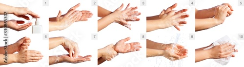 Cuadros en Lienzo Step By Step Correct Procedure For Hand Washing