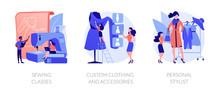 Fashion Design Flat Icons Set....