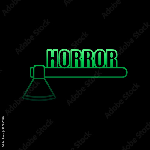 Fotomural Logo horror games nolan icon