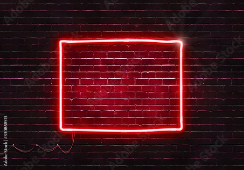 Tablou Canvas Neon sign on a brick wall in the shape of Colorado