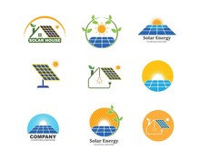 Solar Panel Logo Vector Icon O...