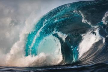 Fototapeta Morze Huge waves at sunset, Sydney Australia