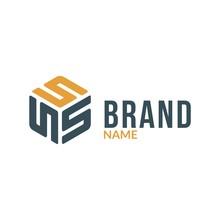 Letter S Hexagonal Box Logo