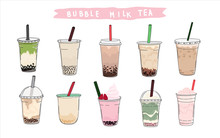 Bubble Tea Cup Design Collecti...