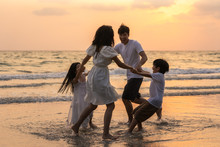 Asian Young Happy Family Enjoy...