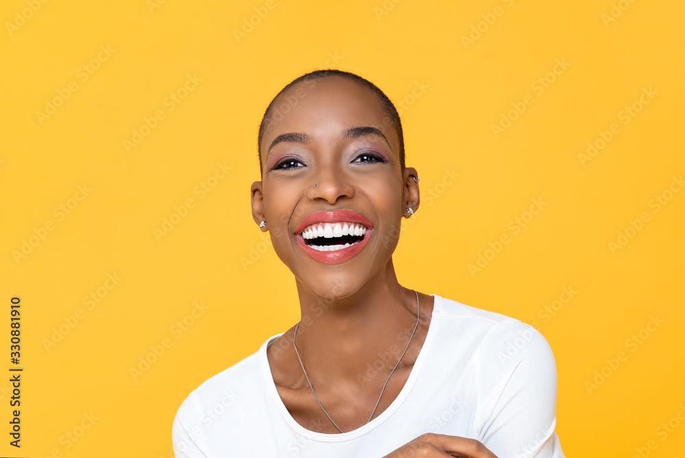 Fototapeta Happy smiling African American woman