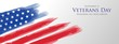 American veterans day vector background concept