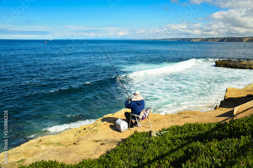 Fishing on the La Jolla Cliffs Canvas-taulu
