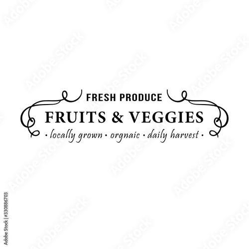 Fresh produce fruits & veggies