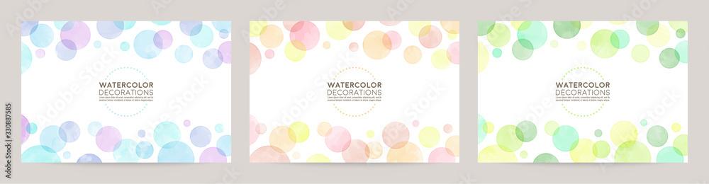 Fototapeta watercolor vector colorful bubble frames