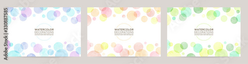 Obraz watercolor vector colorful bubble frames - fototapety do salonu