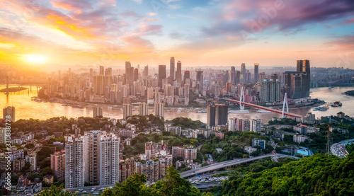 Modern metropolis skyline, Chongqing, China, Chongqing panorama. Canvas