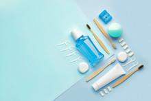 Set For Oral Hygiene On Color ...